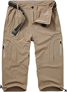 Jessie Kidden Women's Stretch Hiking Shorts, Quick Dry Casual Capri Cargo Pants Camping Travel