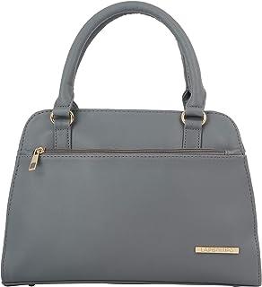 Lapis O Lupo Women Fashion Handbags Vagan Leather Top Handle Satchel Purse With Sling