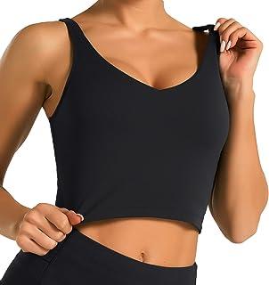Women's Longline Sports Bra Wirefree Padded Medium...