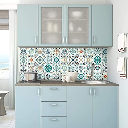 stickers adhesifs carrelages sticker autocollant carreaux de ciment mosaique carrelage mural salle de bain et cuisine carreaux de ciment adhesif