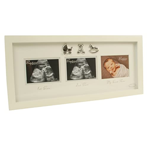 Babys Scan And Here I Am Double Photo Frame