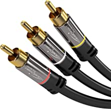 KabelDirekt 15 Feet 3 RCA to 3 RCA Stereo Audio Video Cable  - Pro Series