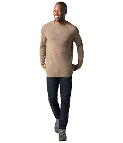 Smartwool Ripple Ridge Crew Sweater (Camel Heather/Military Olive Heather) Men