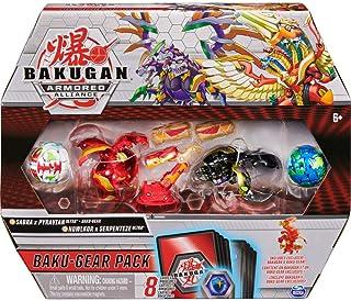 Bakugan Baku-Gear Pack mit 4 Armored Alliance Bakugan (Ultra Sabra x Pyravian, Ultra..