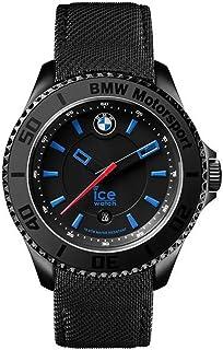 Ice Watch BMW Motorsport Men's Black Dial Leather Band Watch - BM.KLB.B.L.14