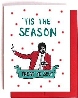 Tom Haverford Treat Yo Self Christmas Card Parks and Recreation Xmas Card
