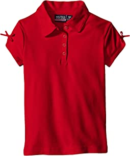 Nautica Kids - Short Sleeve Polo with Bow At Sleeve (Little Kids)