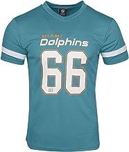 Majestic Miami Dolphins NFL - Camiseta de poliéster con Cuello en V para Mujer