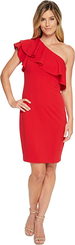Vince Camuto One Shoulder Ruffle Bodycon Dress