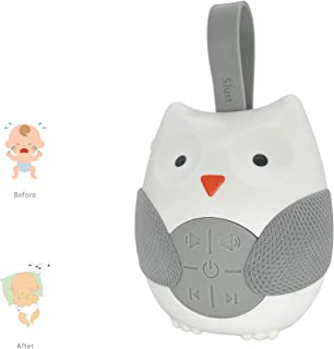 Baby Sound Machine -Portable White Noise Machine for Baby Sleeping,Moonlight & Melodies Nightlight Soother,Owl