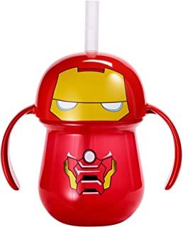 The First Years Marvel Ironman Straw Cup with Handles, 7 Ounce