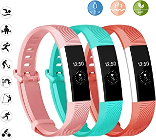 Wekin Replacement Bands Compatible for Fitbit Alta and Alta HR, Breathable Woman Men Adjustable Strap Wristbands Bracelets with Secure Buckle for Smartwatch Tracker Small Large