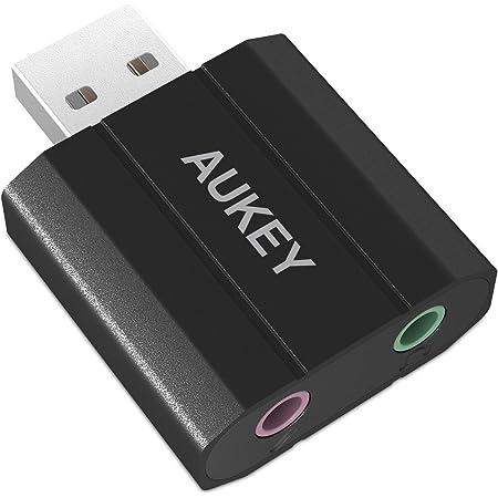 Externe Computer-Audiokarte aus Aluminiumlegierung USB-Soundkarte Externe USB-Soundkarte USB-Adapter USB-Audio-Adapterkarte F/ür alle Computersysteme 7.1 Stereo-Soundkarte