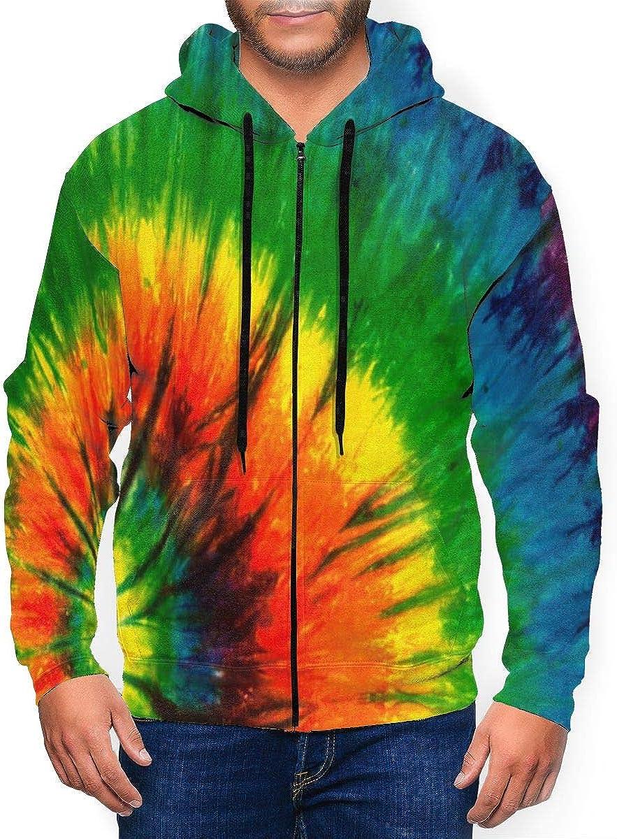 BEASDEN Long Sleeve Hooded Sweatshirt Tie Dye Inspiring Hoodies for Men