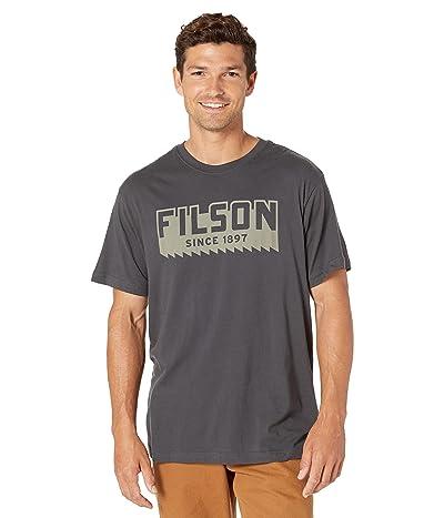 Filson Short Sleeve Ranger Graphic T-Shirt (Fast Track) (Faded Black