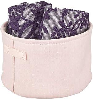 mDesign panier rangement tissu avec doublure et design structuré – rangement maquillage idéal – boite de rangement pratiqu...