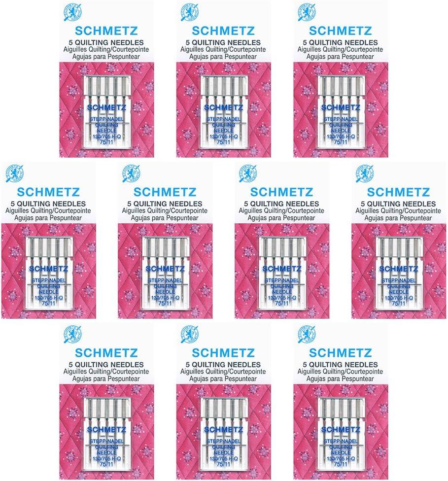 50 SchmetzQuilting Sewing Machine Needles - Size 75/11 -