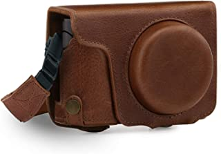 MegaGear Ever Ready Genuine Leather Camera Case Compatible with Panasonic Lumix DMC-ZS100, DC-ZS200