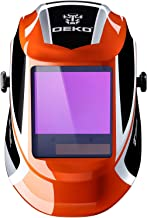 DEKOPRO Welding Helmet Auto Darkening Solar Powered wide viewing field Professional Hood..