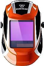 DEKOPRO Welding Helmet Auto Darkening Solar Powered wide viewing field Professional Hood with Wide Lens Adjustable Shade Range 4/9-13 for Mig Tig Arc Weld Grinding Welder Mask