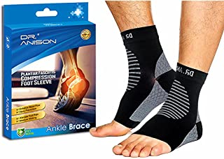 DR.ANISON Ankle Brace Sleeve Support Plantar Fasciitis Sock Compression Socks Premium Foot Sleeve for Men Women Foot Pain ...