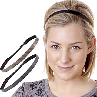 Hipsy Women's Adjustable Non Slip Cute Fashion Running Headbands Tech Hairband Gift Pack