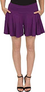 Stretch is Comfort Women's Flowy Skort Wide Leg Shorts with Pockets