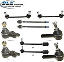 DLZ 10 Pcs Front Suspension Kit-Lower Ball Joint Inner Outer Tie Rod End Front Rear Sway Bar Compatible with 1996-2004 Pathfinder 1997-2003 Infiniti QX4 4WD ES3466 EV396 K80435 K90659 K90662