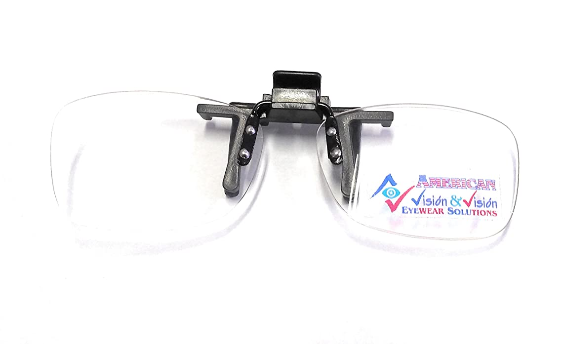 Reading Glasses, Readers Clip On and Flip Up, Magnifiers Strength +1.00 By V&V, Hassle Free Lenses