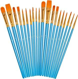 مجموعه قلم موهای اکریلیک ، برس های رنگارنگ نوک هنرمند برس های موی نایلونی برای رنگ آمیزی آبرنگ روغن ، رنگ مدل بدن صورت ، هنر ناخن ، جزئیات مینیاتوری