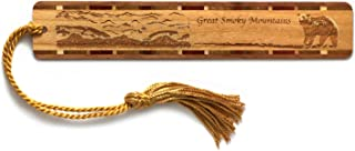 Mitercraft Great Smoky Mountains Engraved Wooden Bookmark with Tassel