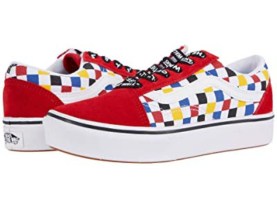 Vans Kids ComfyCush Old Skool (Big Kid) ((Checkerboard) Multi/Black) Boys Shoes