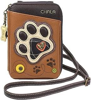 Chala Handbags Paw Print Wallet Crossbody Handbag - Convertable Strap, Dog Mom, Dog Lover