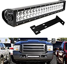 iJDMTOY Lower Grille 20-Inch LED Light Bar Kit For 1999-2007 Ford F250 F350 Super Duty, Includes (1) 120W High Power LED Lightbar, Lower Bumper Opening Mounting Brackets & On/Off Switch Wiring Kit