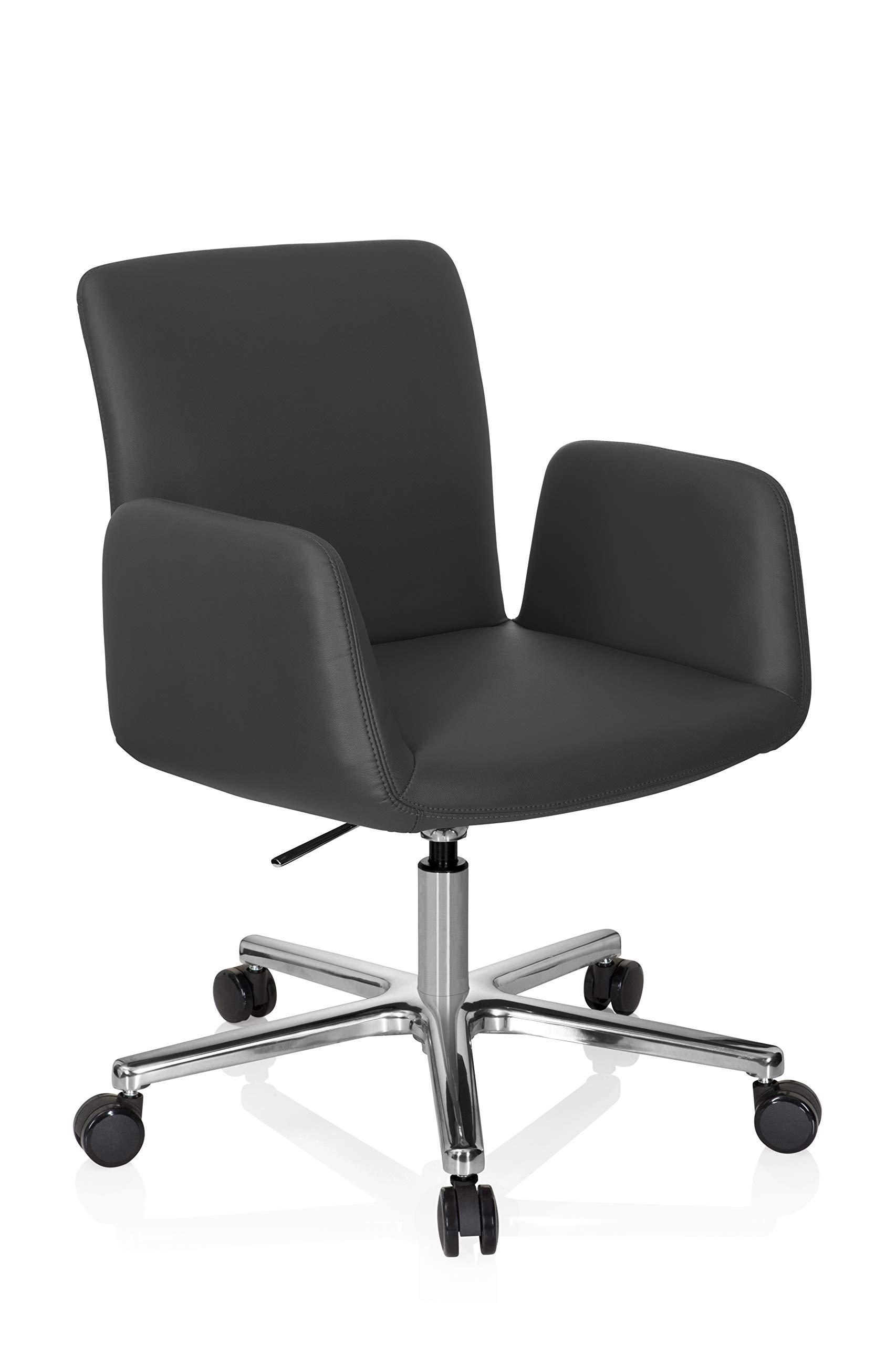 Sedia da Ufficio SixBros Sedia da scrivania Girevole Grigio 0704M//2488 Sedia da Ufficio o Home-Office Regolabile in Altezza Sedia direzionale in Tessuto