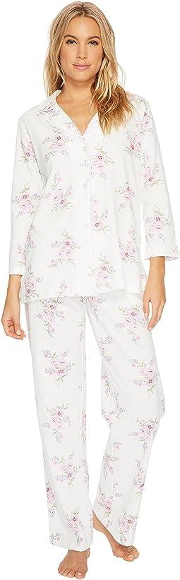 Carole Hochman - Printed Notch Collar Pajamas