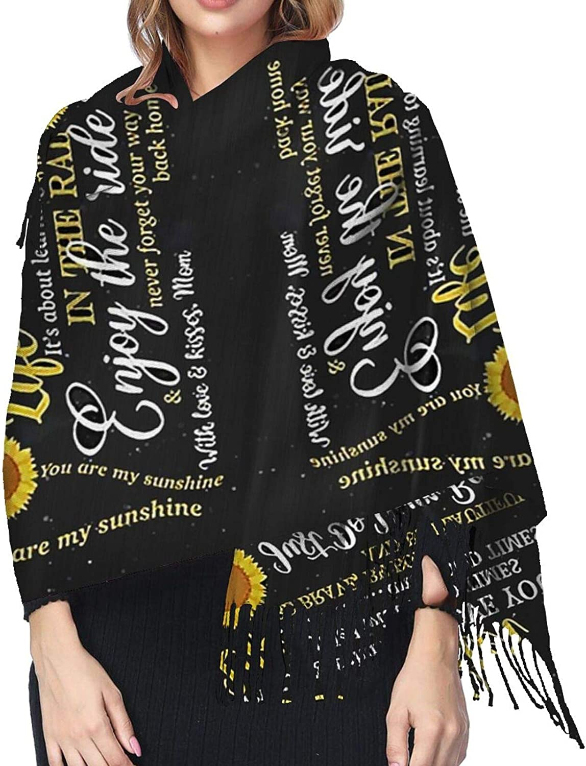Love To My Daughter Cashmere Feel Scarf Lightweight Soft Scarfs For Boys Girls Creative Warm Cold Weather Blanket Scarf