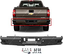 MBI AUTO - Primered, Steel Rear Bumper for 2014-2018 Chevy Silverado & GMC Sierra 1500 W/Corner Steps 14-18, GM1103179