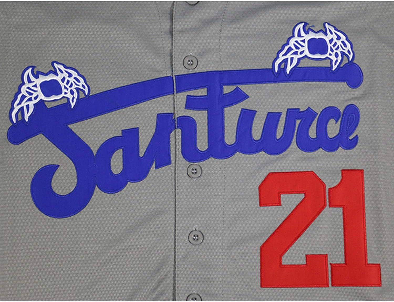Villa Roberto Clemente #21 Santurce Crabbers Baseball Jersey Stitched Men Jersey Black White Grey S-3XL