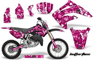 AMR Racing MX Dirt Bike Graphic Kit Sticker Decals Compatible with Honda CR85 2003-2007 - Butterfly Pink