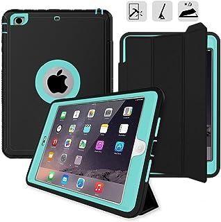 "iPad Mini Cover Case, Spessn Heavy Duty Full Body Protective Smart Case Stand for Apple iPad Mini 4 / iPad Mini 5 7.9"" 2019 with Auto Sleep/Wake Function - Light Blue"