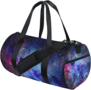 Gym Sports Bag Colorful Galaxy Star and Nebula Universe Travel Duffel Bag for Men and Women