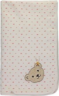 Steiff Babydecke mit Wunsch-Name bestickt wei/ß mit Kirsche und Schmetterlingen 95 cm x 65 cm personalisierte Jerseydecke Namensdecke bright white f/ür M/ädchen