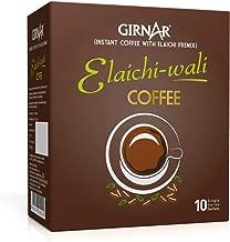 Girnar Instant Coffee with Elaichi (Cardamom) (10 Sachet Pack)