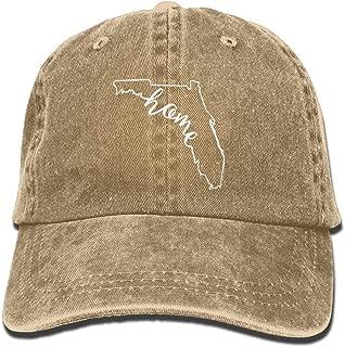 Florida Home Unisex Adult Vintage Washed Denim Adjustable Baseball Cap