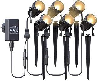 Éclairage de Jardin,Spot LED Extérieur de Jardin Azhien avec Piquet de Terre,Lampe de Jardin 6x3W 1800Lm,Lampe de Jardin L...