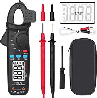 BSIDE ACM81 Digital Clamp Meter 1mA AC Current Pocket True RMS Auto-Ranging Meter Temperature V-Alert Continuity Ohm Diode Voltage Tester