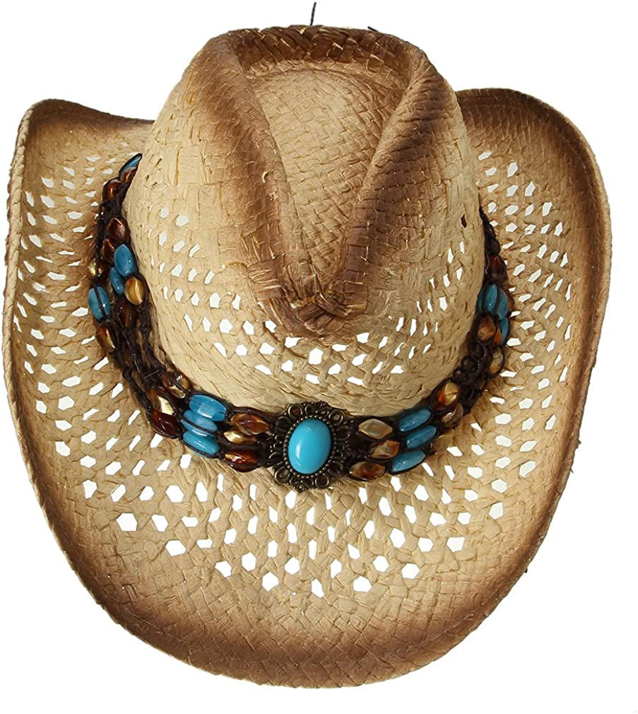 GEMVIE Straw Cowboy Sun Hat Western Limited time trial price an for Men Max 65% OFF Style