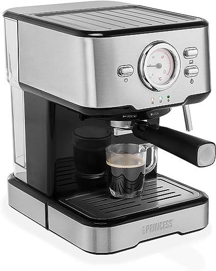 -Princess 249412 Espressomachine – Met melkopschuimpijpjes voor cappucino en latte macchiato – 2 kopjes-aanbieding