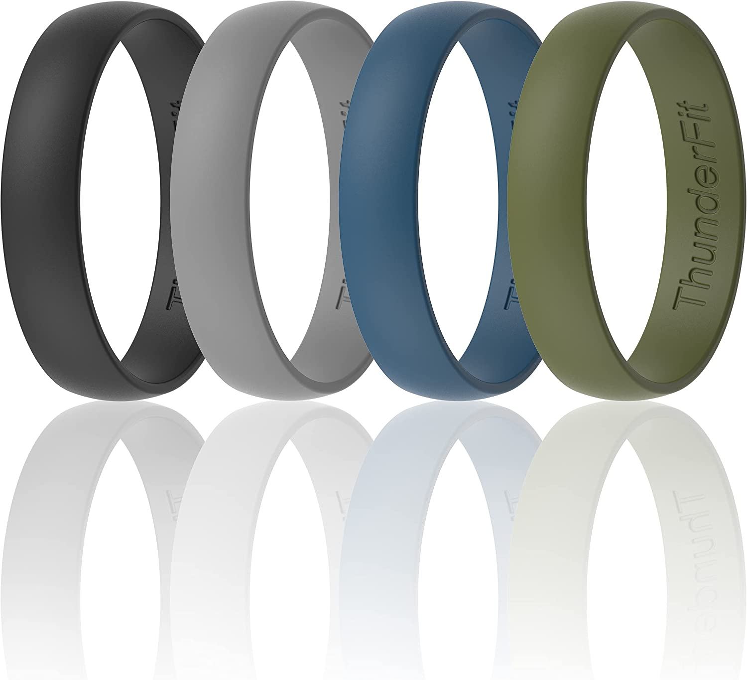 ThunderFit Silicone Wedding Ring for Men Cheap sale R 4 Women 1 - Branded goods Rings
